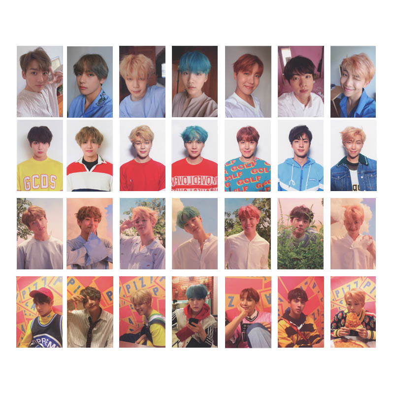 Youpop KPOP BTS Bangtan Boys MINI 5th Love Yourself Album Photo Card Hip Hop Self Made Paper Cards Autograph Photocard XK489 jyj kimjunsu xia 3rd album vol 3 flower 1 random photocard release date 2015 3 18 kpop