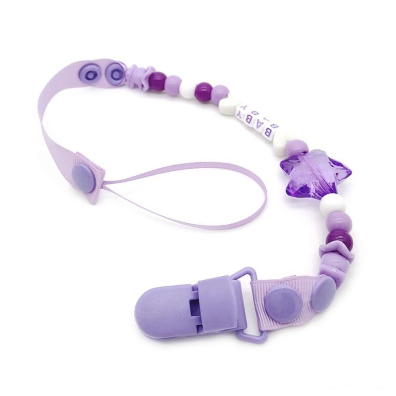 New Infant Pacifier Clip Chain Baby Boys Girls Pacifier Clips Newborn Dummy Pacifier Chain Clip Holder Baby Nipple Feeding