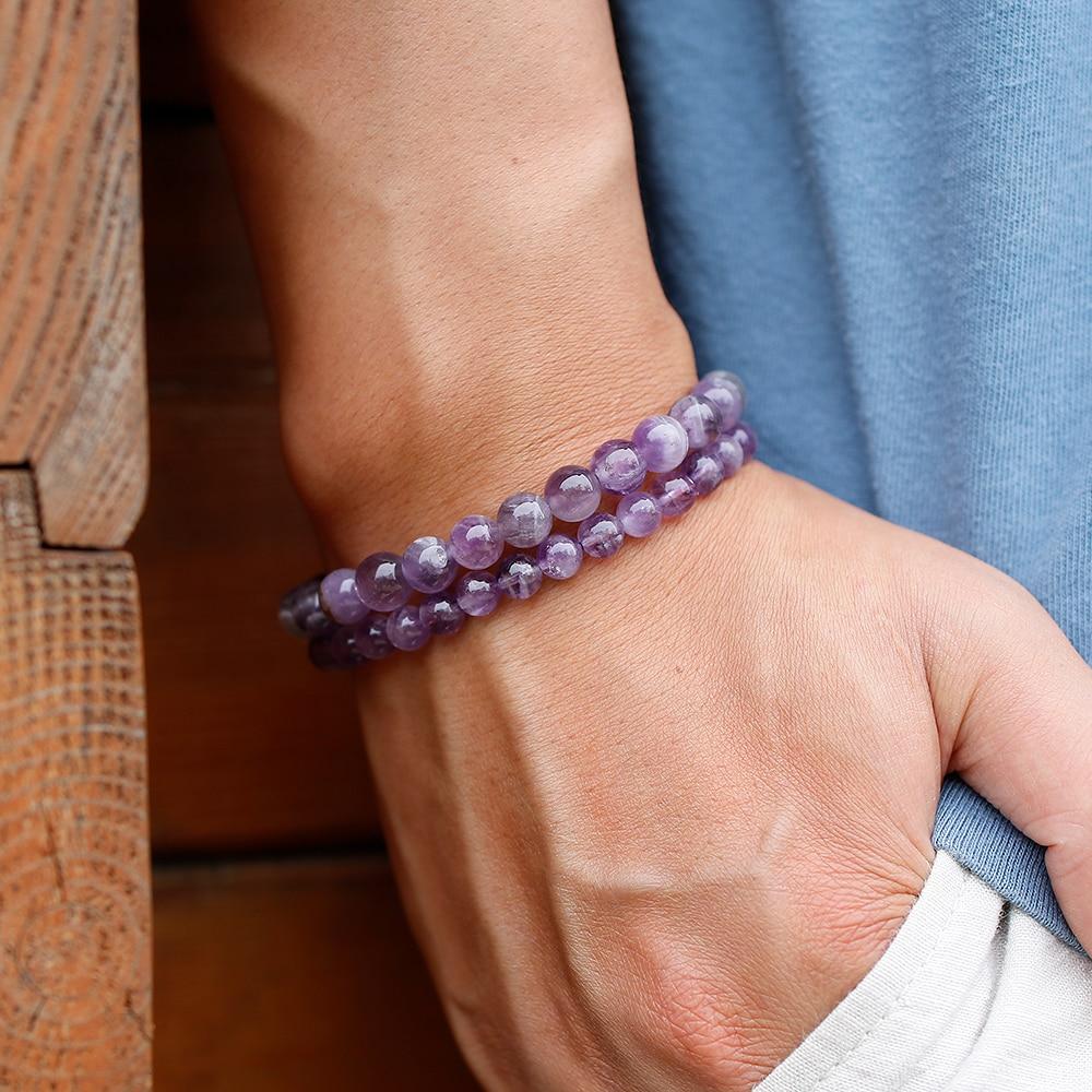 HTB1H33tc8OD3KVjSZFFq6An9pXah Natural Dream Amethysts Quartz Energy Light Purple GemStone Bracelet Women Beaded Stretch Bracelet Energy Gift Jewelry