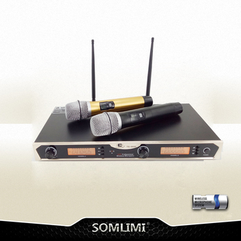The real U segment FM KTV special wireless microphone professional anti-scream call home stage conference one and two microphone