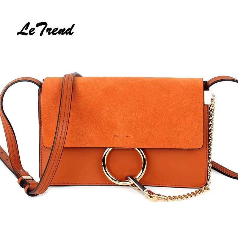 LeTrend nouvelle corée mode femmes en cuir véritable sacs à main sac cartables Messenger sac bandoulière sacs dames sac à bandoulière nouveau