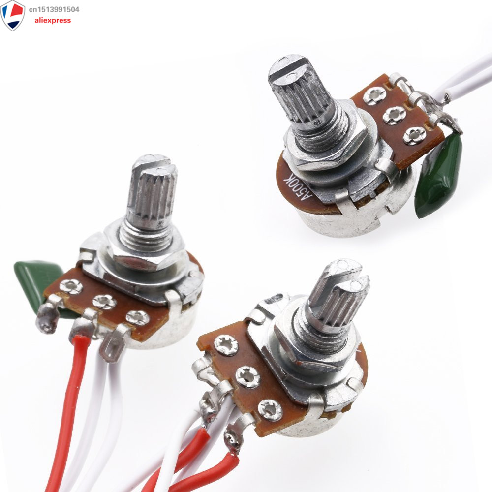 Wiring Harness Prewired 1 Volume 2 Tone Control 5 Way Switch 3 500K Pots  For Strat Guitar (Black Tip)-in Guitar Parts & Accessories from Sports ...