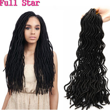 20″ Curly Faux Locs 24 Roots Synthetic Hair weave Dreadlock Havana Mambo curly crotchet locs hair extensions Crochet Braid Hair