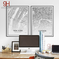900D Posters And Prints Wall Art Canvas Painting Wall Pictures For Living Room Nordic Decoration City