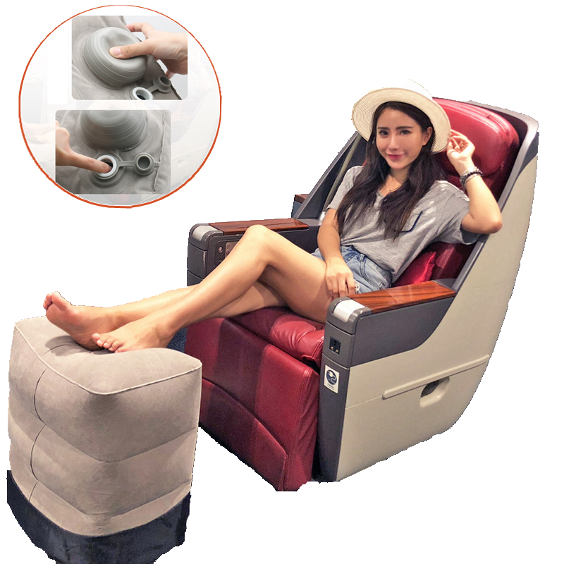 Image 2 - Inflatable Foot Rest Cushion for Under Desk Leg Support Pillow Knee Sciatica Hip Joint Ankle Pain Relief Car Airplane Pillowstravel pillowpillow for travelthe pillows -