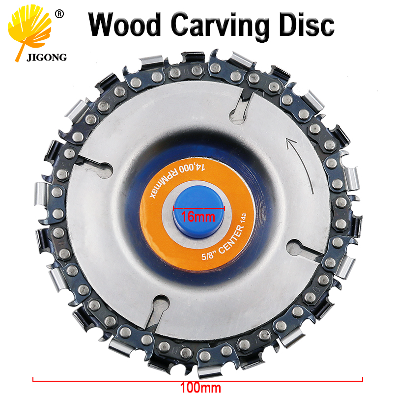 4 Inch Grinder Disc And Chain 22 Tooth Fine Abrasive Cut Chain For 100/115 Angle Grinder