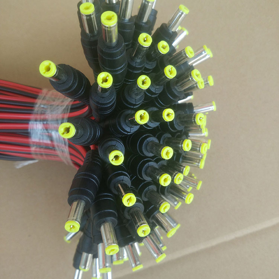 100PCS 30cm 5.5x2.1mm DC12V Central Power Supply Cable Male Jack Plug Connector CCTV Security Camera 12V DC Power Lead Pigtail