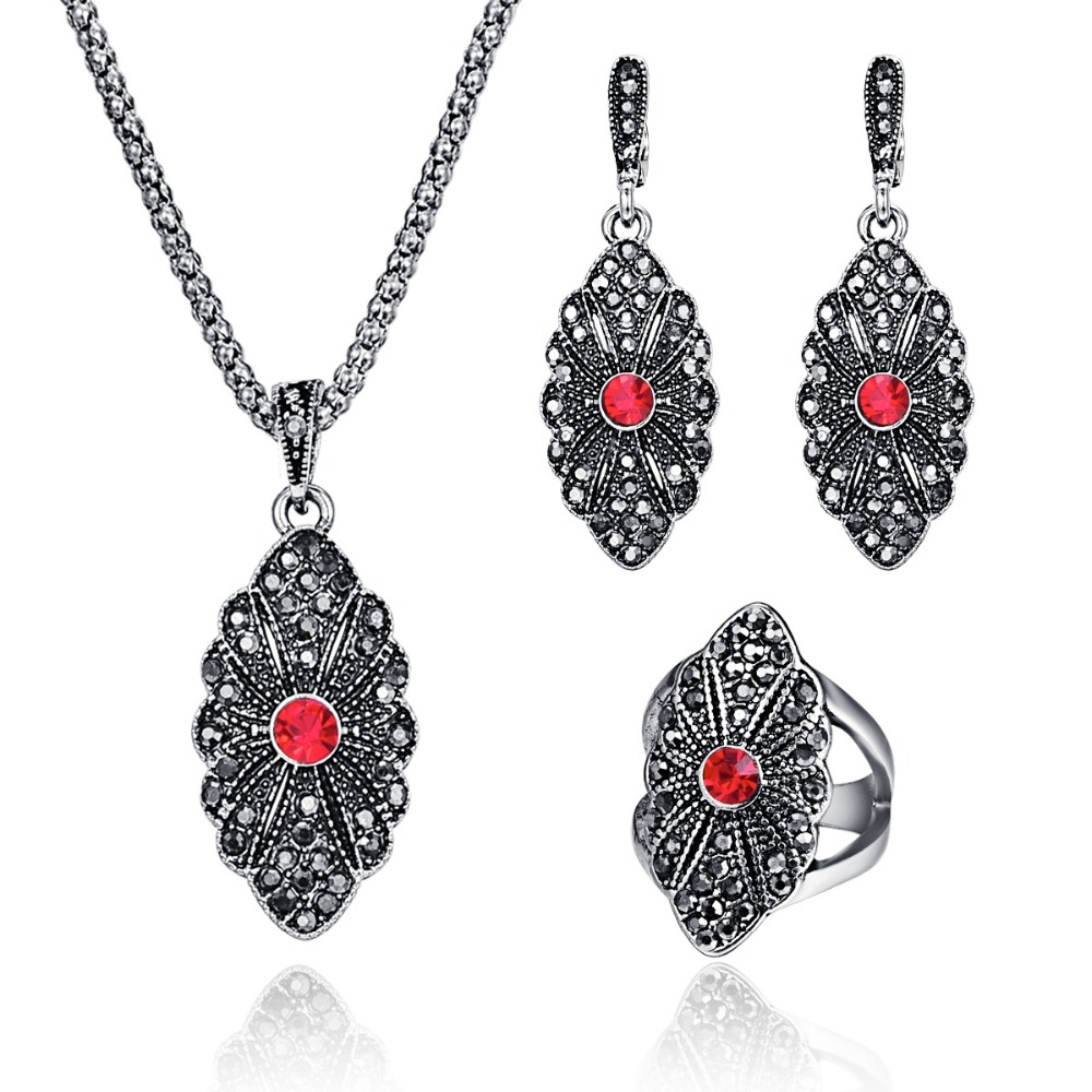 Classic Antique Silver Color Women Jewelry Trendy