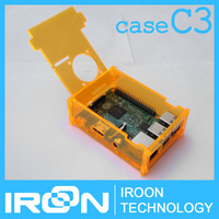 case C3: Raspberry PI 3 Orange Clear Acrylic Case Box Cover Shell Enclosure for Raspberry PI 2 Model B and Model B+