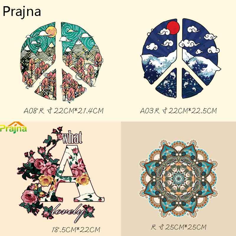 Праджня ожерелье в богемном стиле аниме Нашивки комплект рюкзак Нашивки для утюга вставить Термальность передачи узор DIY ремесла Декор E