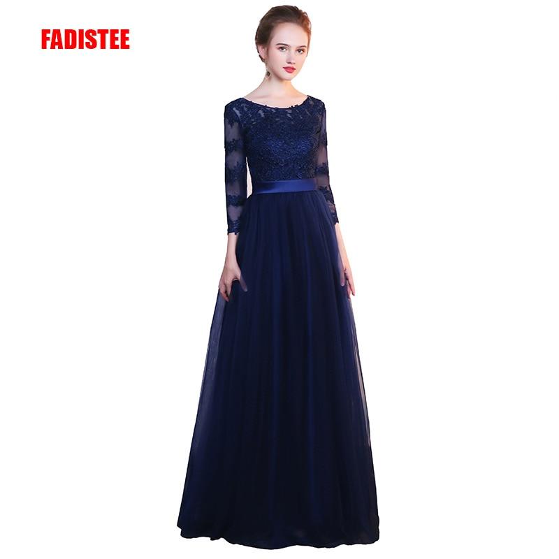 FADISTEE New arrival elegant party evening full sleeves prom dresses Vestido de Festa A line appliques