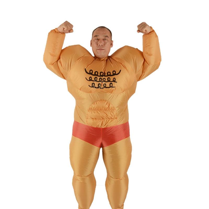 Kids Muscleman Costume Wrestler Body Builder Baby Infant Toddler Muscle Boys