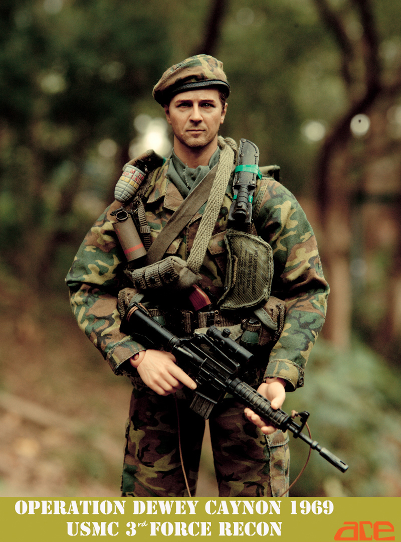1/6 ACE USMC 3rd Force Recon 1969 in Dewey Canyon Soldier Model Dolls 12  Action Figure Collectible Doll Toys john dewey how we think