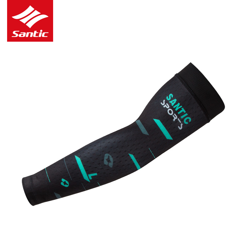 SANTIC Anti-UV Breathable Arm Sleeve Outdoor Sports Cycling Arm Warmers A Pair