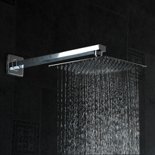 becola shower head with shower arm square stainless steel ultra-thin shower heads Bathroom square shower 10 inch