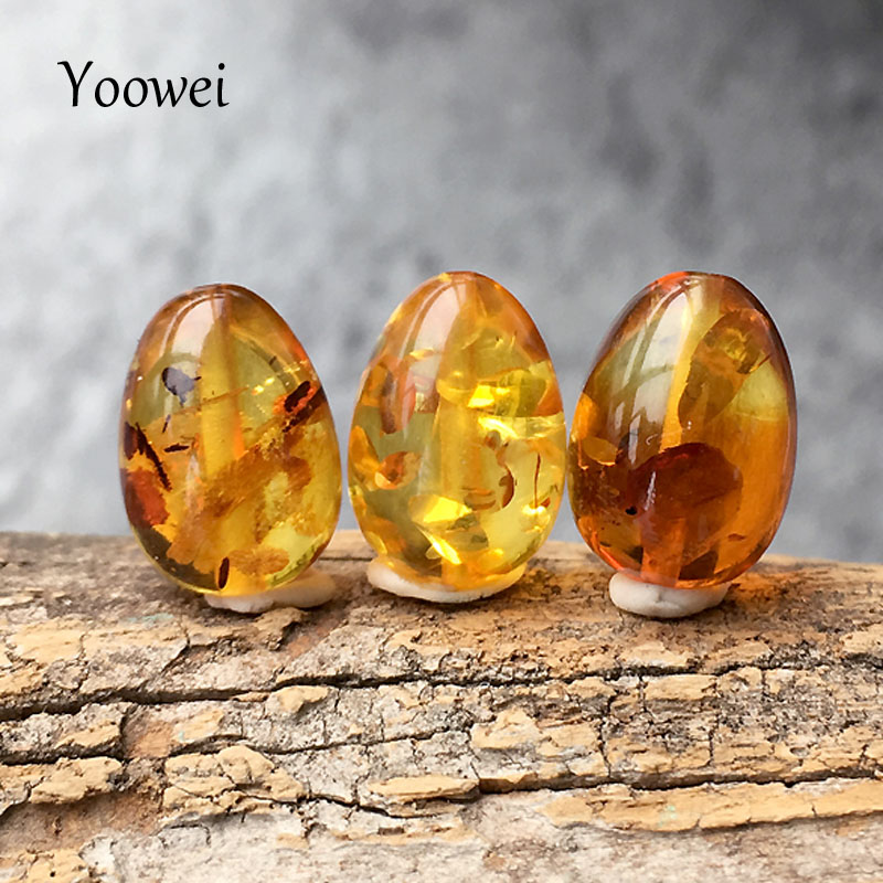 Yoowei 3pc/set Natural Amber Beads Wholesale Special diy Loose Bead Custom Necklace Baltic Flower Amber Beads for Jewelry Making pure handmade string beads beads bracelets tassels roasted blue flower accessories amber beaded bracelet factory wholesale
