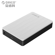 ORICO Aluminum 3.5″ USB3.0 to SATAIII Case External Hard Disk Drive Enclosure 8TB 3.5 SSD/SATA HDD Adapter Support UASPS Sliver