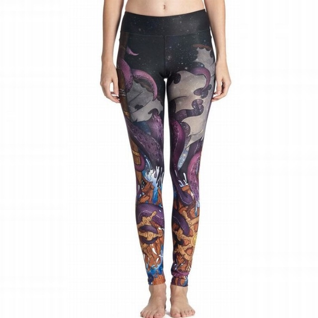 0d877af7e3bf05 2016 Girls Sports Leggings Print Women Skinny Leggings Push Up Active Pants  Fitness Clothing Female Trouser Sexy Leggins YG017