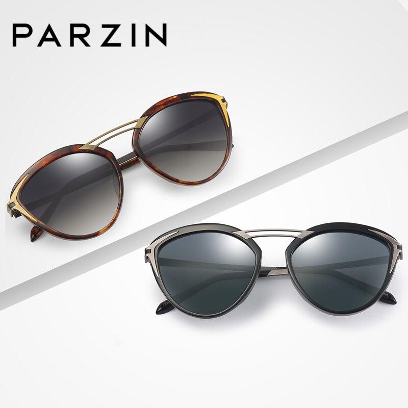 PARZIN Brand Women Sunglasses Luxury Designer Polarized Hollow Crossbeam Glasses For Driver Fashion Women Accessorie9755