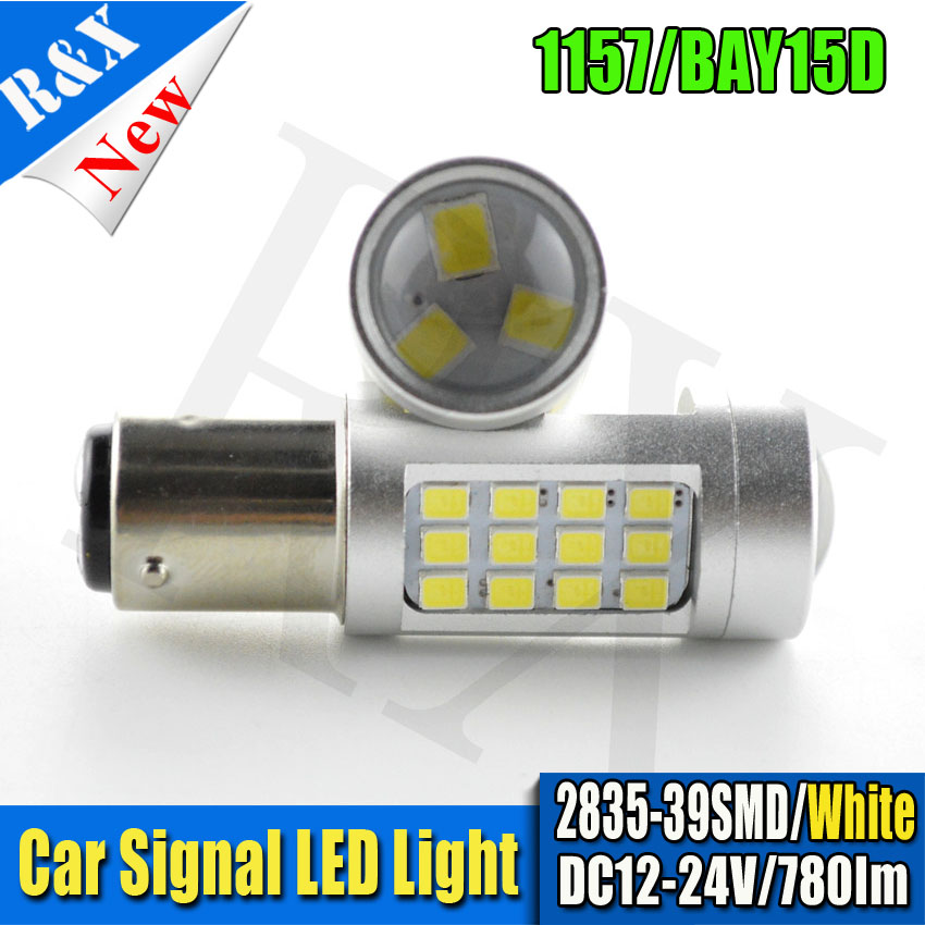 2pcs/lot 12V 24V 2835 39 SMD Good Led Bulbs 780LM 1156 BA15S 1157 BAY15D Truck Car Use Turn Lamp Tail Signal Lights High Lumens