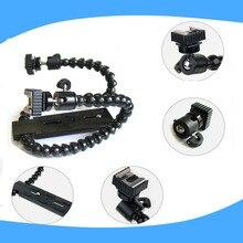Flexible Deux Têtes Hot Shoe Double Double Double bras mixte Macro tir Réglable Flash Support Support pour canon NIKON flash lumière