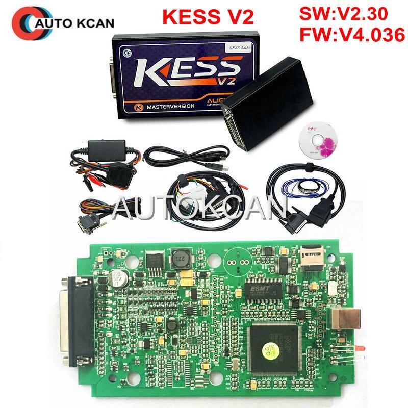 Prix pour KESS V2 V2.31 4.036 HW V4.036 MAÎTRE OBD2 Gestionnaire Tuning Kit Aucun Jeton Limitation ECM Titanium logiciel Chip Tuning