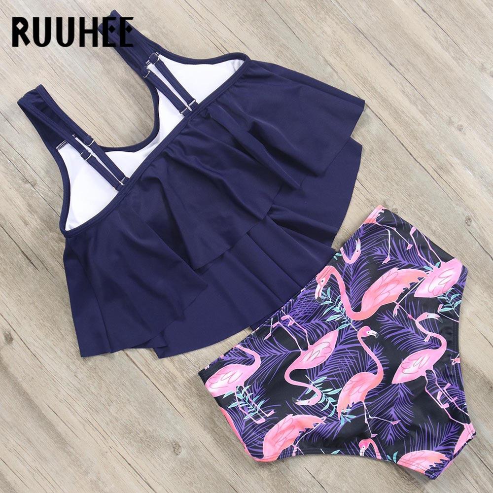 HTB1H368aOnrK1Rjy1Xcq6yeDVXaS RUUHEE Bikini 2019 Swimsuit Swimwear Women High Waist Tankini Bikini Set Push Up Bathing Suit Women Beachwear Plus Size Swimwear