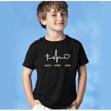 EnjoytheSpirit Kid Tshirt Faith Hope Love Christian Religious Kids T-shirt Good Quality Casual Short Sleeve Top Tee