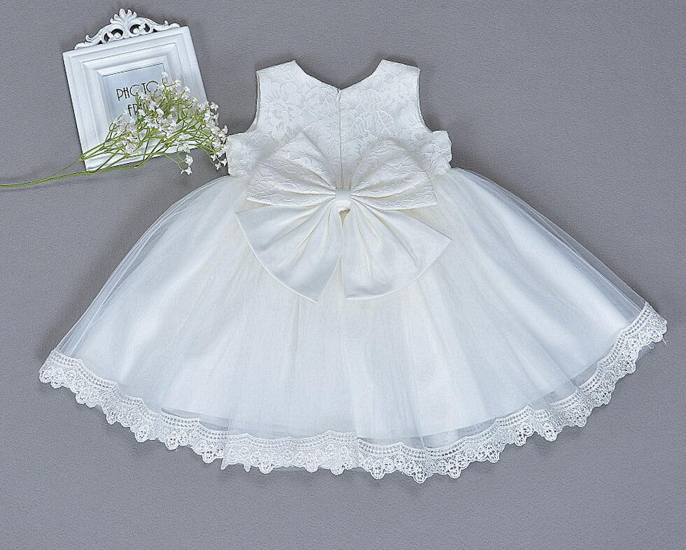 b252d5464 Red Pink Off White Bowknots Embroidered Trim Baby Girl Christening Dress  Princess Wedding Party Newborn Baptism Gown-in Dresses from Mother & Kids  on ...