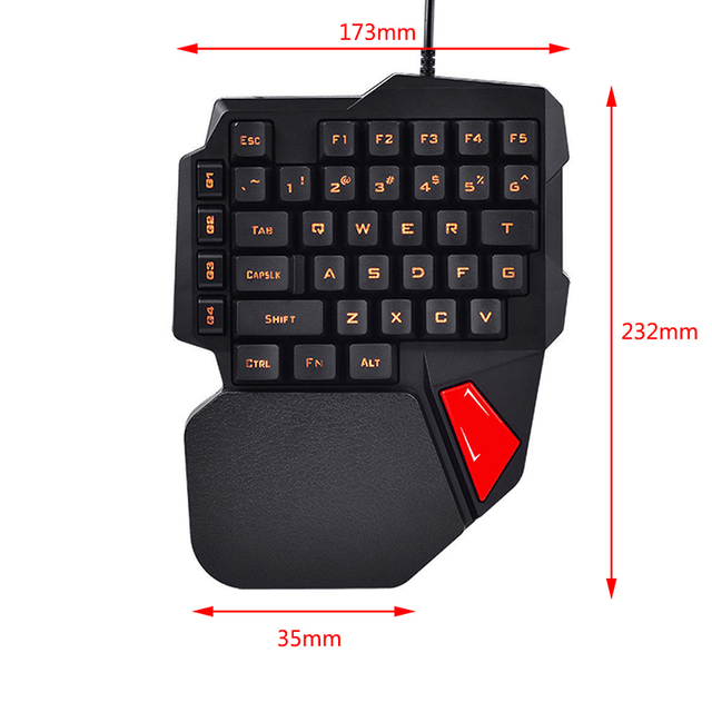 Left Hand K108 Mechanical One-Handed Keyboard Small Keyboard  Gaming Keyboard For PUBG Mobile Game