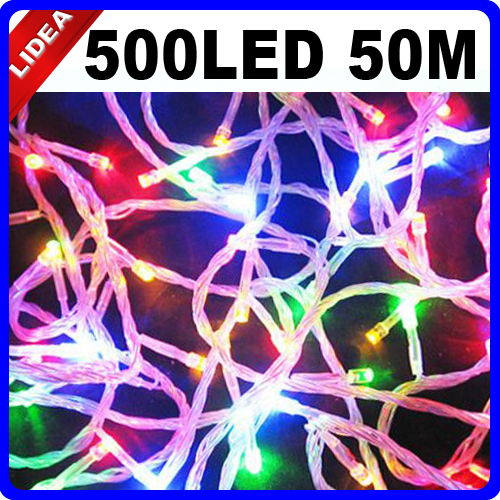 50M 500 LED 9 Colors Holiday New Year Xmas Navidad Fairy String Decoration Outdoor Garland LED Christmas Wedding Light CN C-35 30m 300 led 9 colors wedding garden new year xmas navidad garland led christmas decoration outdoor fairy string light cn c 33