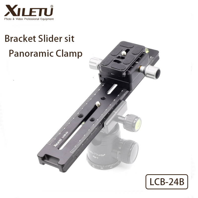 XILETU LCB-24B Track Dolly Slider Focusing Focus Rail Slider & Clamp and QR Plate Meet Arca Swiss For DSLR Camera Canon