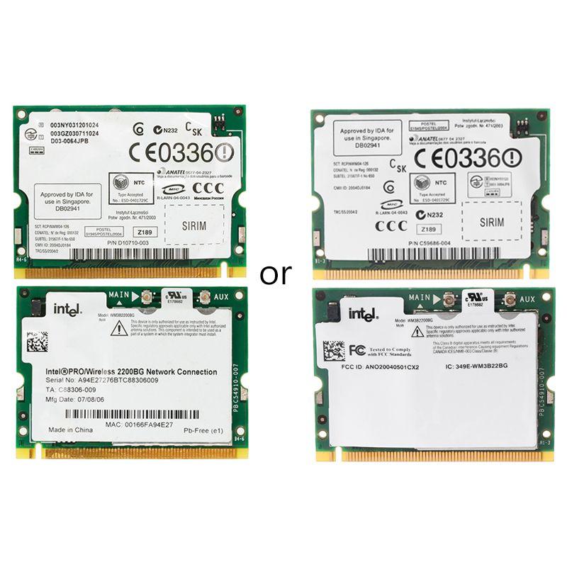 2019 New Intel Pro/Wireless 2200BG 802.11B/G Mini PCI Network Card WIFI For Toshiba Dell