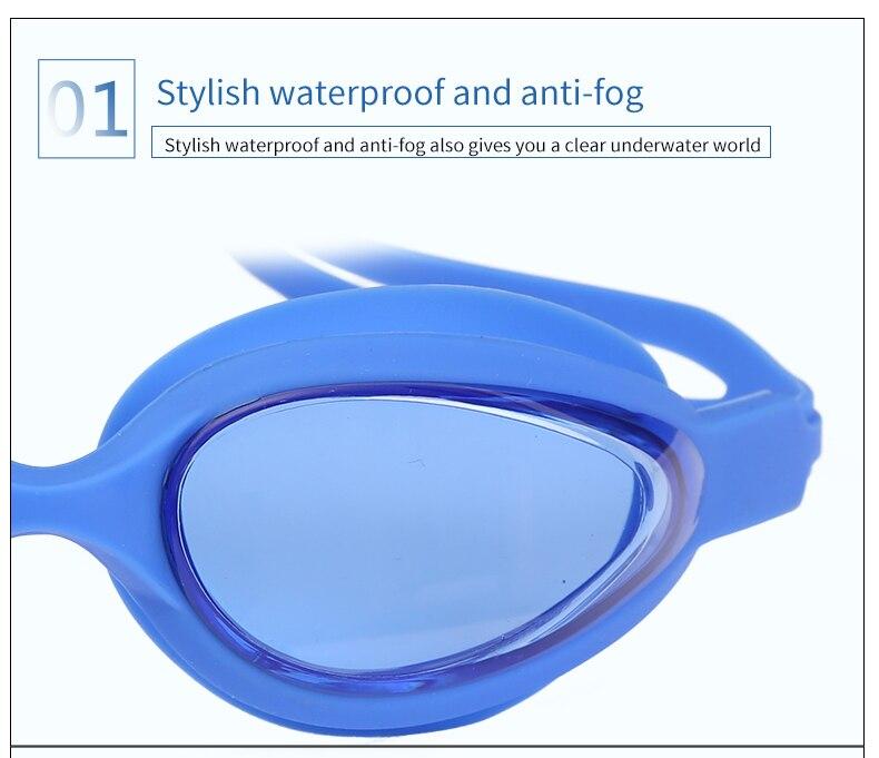 natação profissional ajustável uv silicone à prova