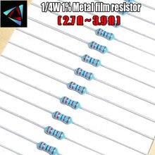 100pcs 1 4W 1 Metal film resistor 2 7 3 3 3 3 6 3 9