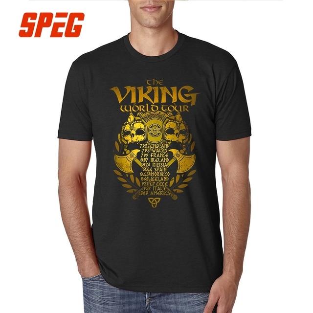 b3286140 T Shirt Vikings New Golden Legends Valhalla Youth Cotton Short Sleeve  Tshirs Hot Selling T-Shirt Men Vintage Printing Big Size