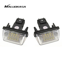 MALUOKASA 1Pair NO ERROR Atuo LED Number License Plate Light Rear Lamp For PEUGEOT 206 207