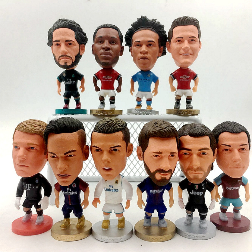 Europe Super Hot Soccer Star Player Action Figure Football Model Toys Doll Messi Ronaldo Neymar Pogba Buffon Salah 2019 Hot