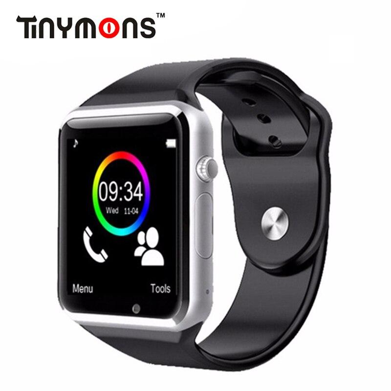 A1 Armbanduhr Bluetooth Smart Uhr Fitness Schrittzähler Tragen SIM Kamera Smartwatch Für Android Telefon Facebook Whatsapp Kinder Kind