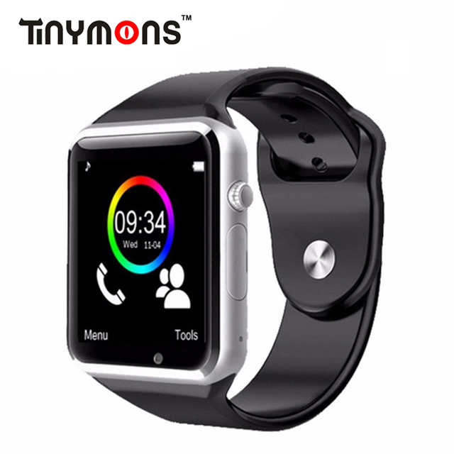 5d679b01668 Relógio de Pulso Bluetooth Relógio Inteligente Pedômetro Aptidão A1  Desgaste Câmera SIM Smartwatch Para Android Whatsapp