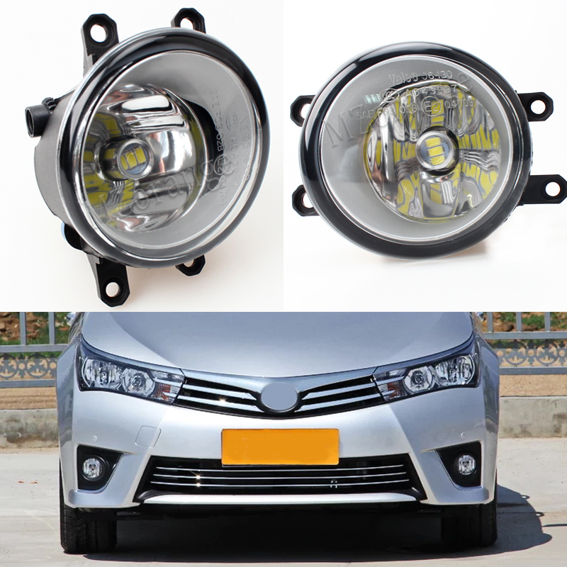 Fog Lamp Assembly Super Bright Fog Light For TOYOTA CAMRY Corolla AVENSIS AURIS RAV 4 III PRIUS YARIS 2003-2015 Led Fog Lights tcart 2x auto led light daytime running lights turn signals for toyota prius highlander for prado camry corolla t20 wy21w 7440