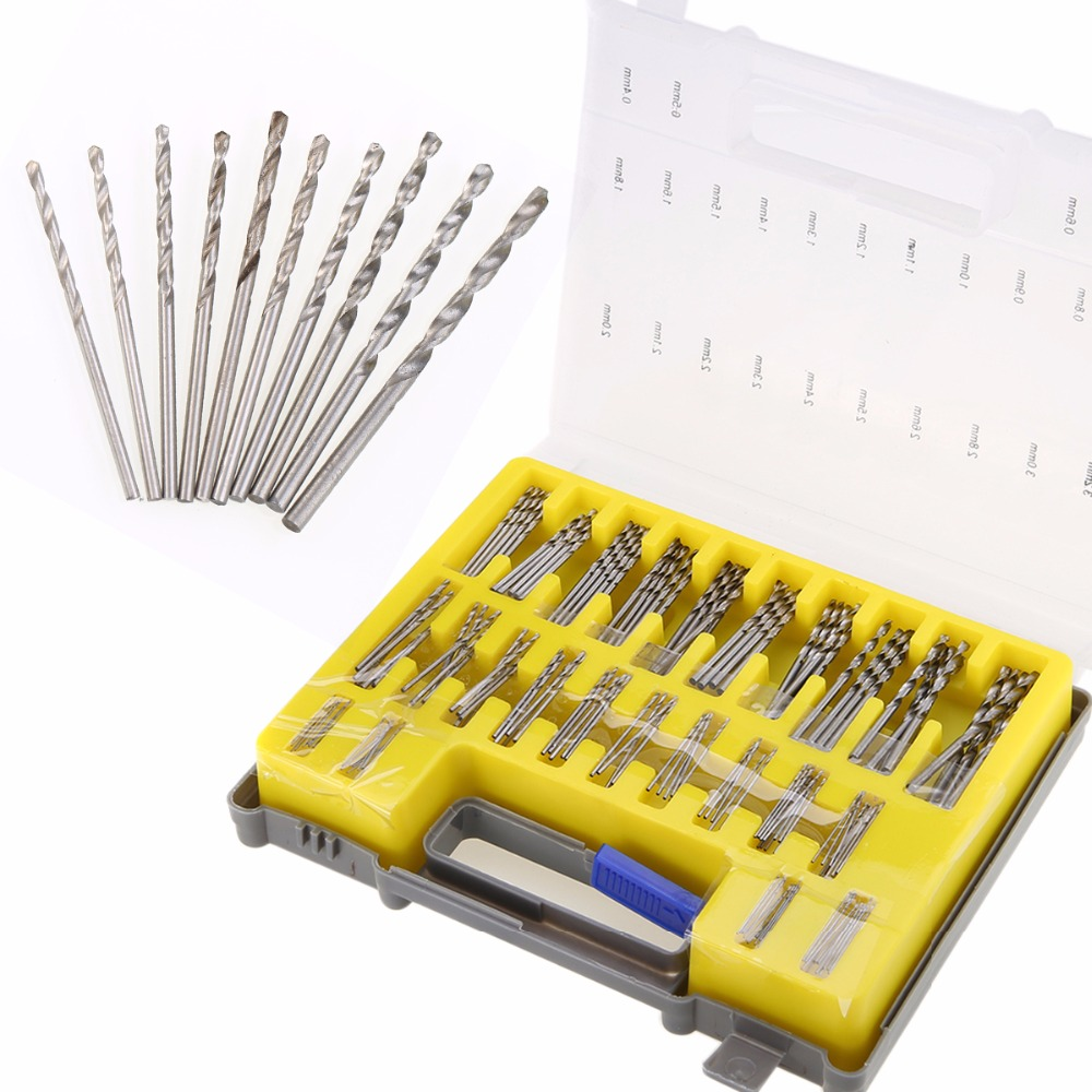 150pcs 0.4-3.2mm Mini HSS Twist Drill Bit Set Micro High Speed Steel Power Tool with Carry Case new 10pcs jobbers mini micro hss twist drill bits 0 5 3mm for wood pcb presses drilling dremel rotary tools