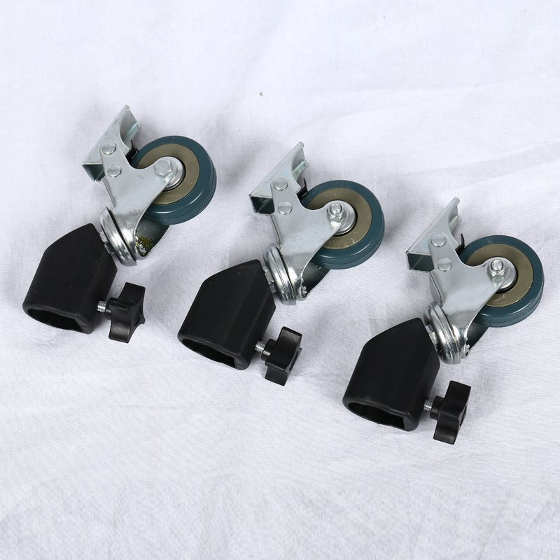 CY Dalam stok 3PCS 22mm Photo Studio Heavy Duty Roda Caster Universal Untuk Cahaya Stands & Studio Boom Photo Studio Accessories
