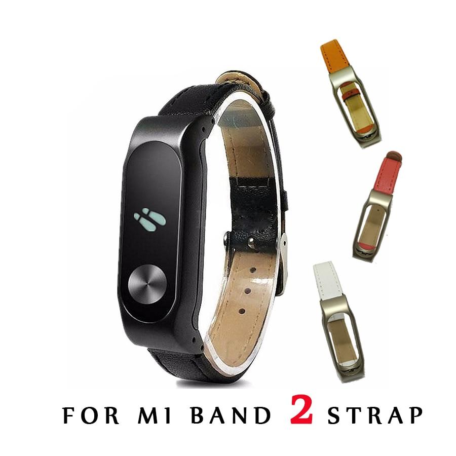 Xiaomi Mi Band 2 Üçün PU Dəri Kəmər Bilək qayışları Vintsiz Bilərzik Smart Band dəyişdirin Aksesuarları Mi Band 2