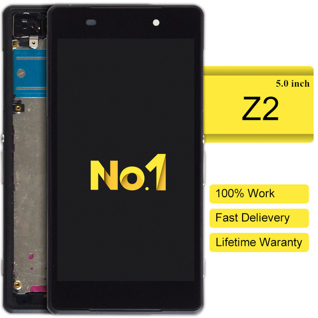 10 stks alibaba china highscreen clone Voor Sony Xperia Z2 L50w D6503 Lcd-scherm Met Touch Digitizer + frame Montage