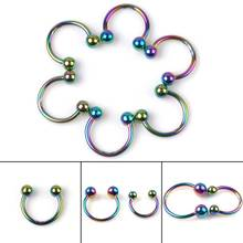 Wholesale 30Pcs/lot Stainless Steel Colorful U Shape Nose Rings Piercing In The Nose Ear Rings Piercing Body Jewelry