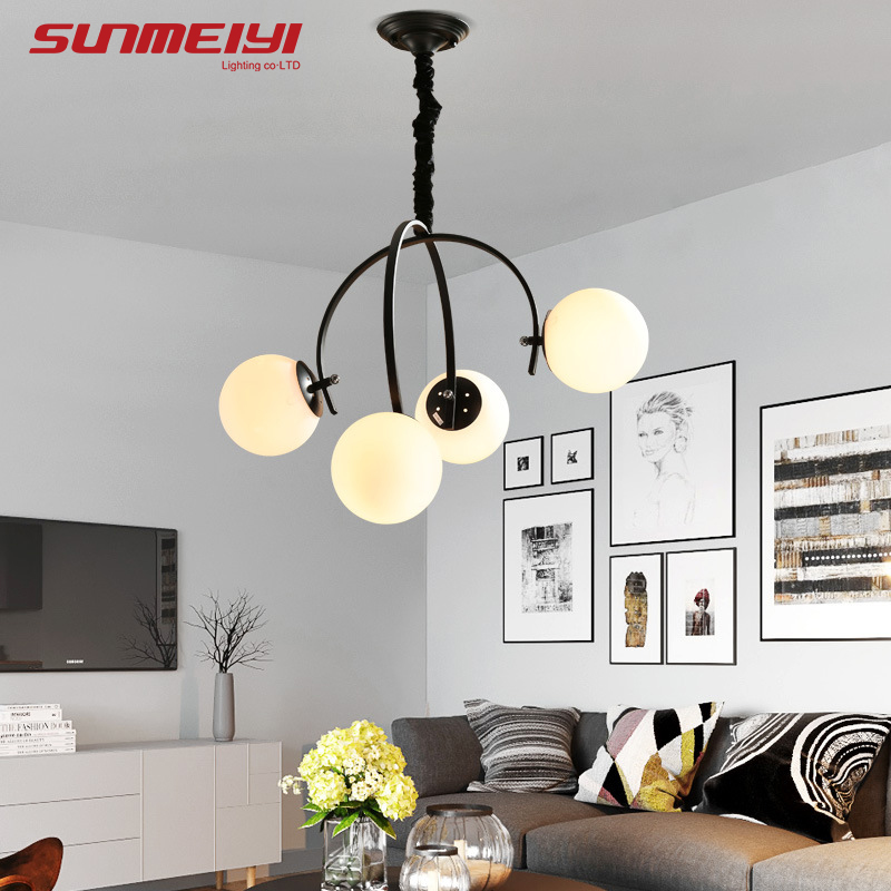 Modern LED Pendant Lights halat avize For Living room Kids room Glass Ball Pendant Light verlichting hanglamp Dining Lamp dx vintage lights pendant antler metal pendant lights verlichting hanglamp bar pendant light dinning room