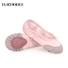 Girls Kids Ballet Point Dance Shoes 2019 Children Beginner Practicing Dancing Women Canvas