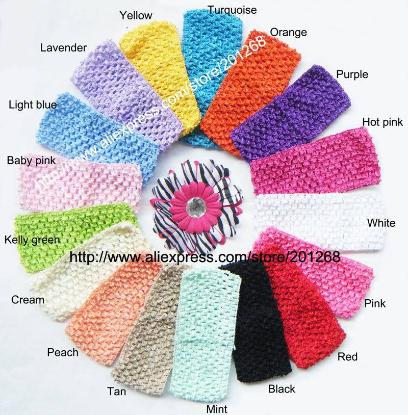 2.75 wide Crochet headband waffle headband for toddler 2.75inch 17 hot sale colors in stock U Pick