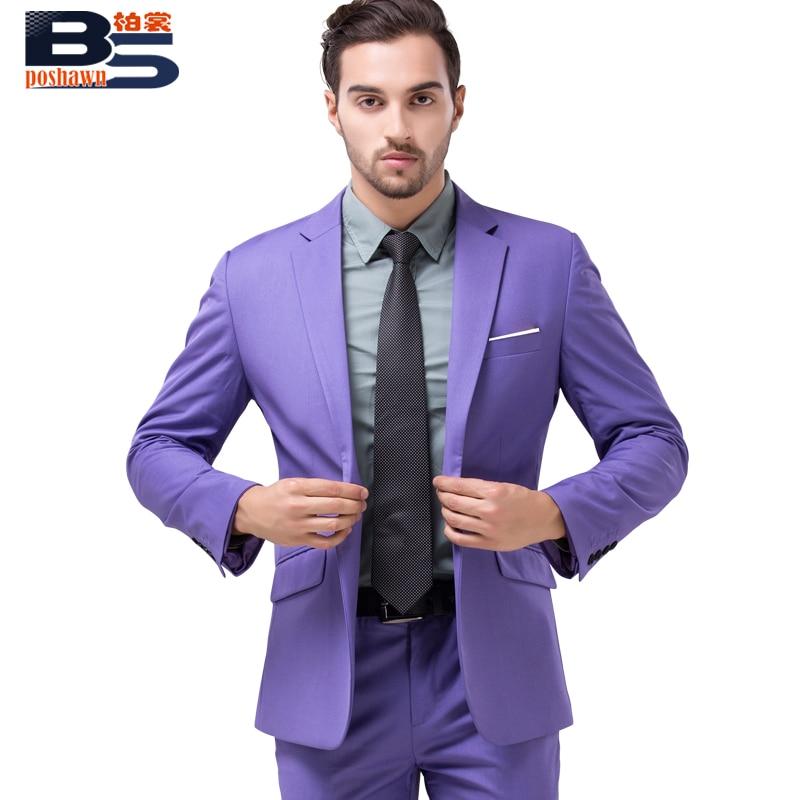 2016 moda ocio marca hombre Suit Blazer violeta chaleco chaqueta ...
